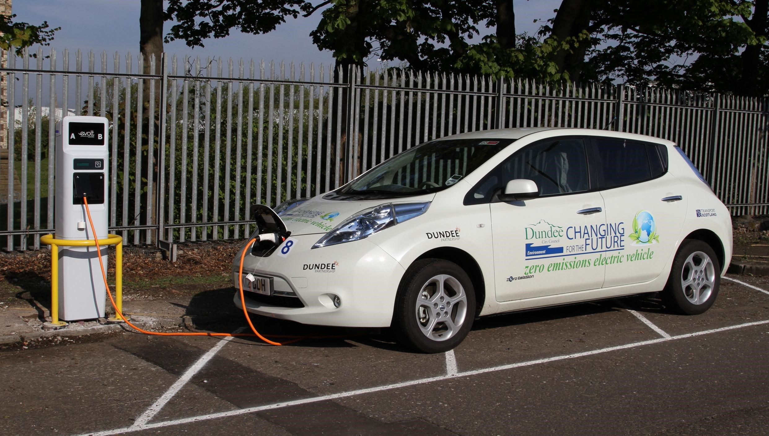 A Dundee City Council electric vehicle