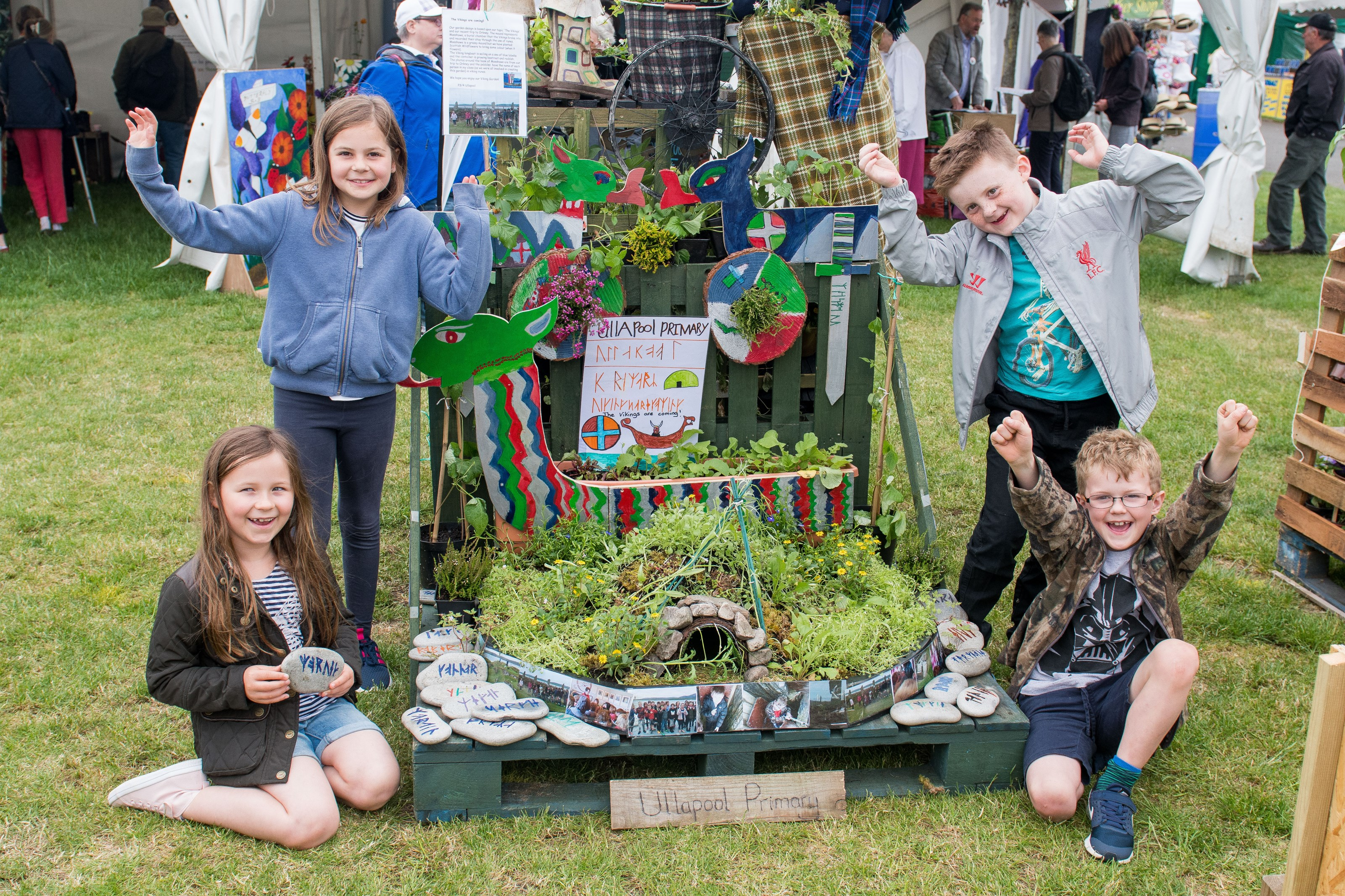 Ullapool Primary with their Pocket Garden in situ