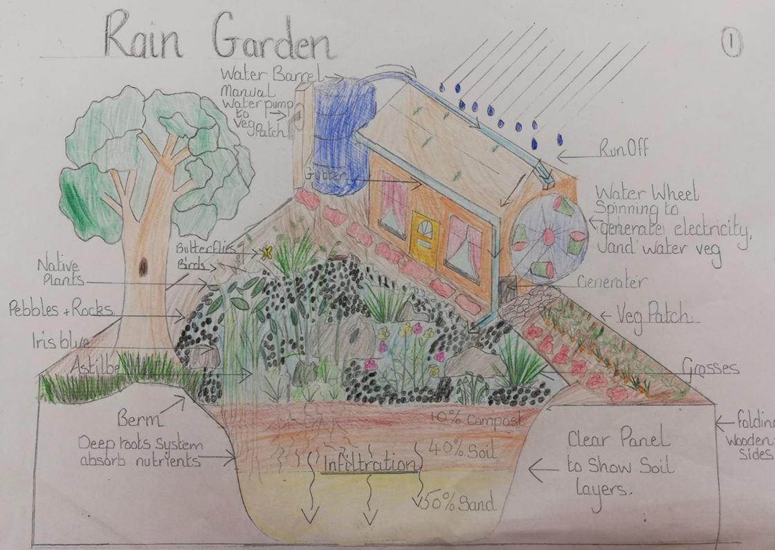 Pocket Garden Stories   Corsehill Primary on rain garden drawings, vegetable garden design sketch, rain garden construction plan view,