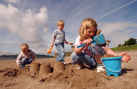 Seaside Awards - building sandcastles