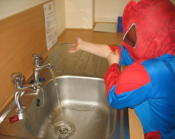 Even Superheroes Wash Their Hands