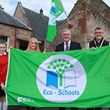 MINISTER RAISES GREEN FLAG FOR BISHOP EDEN PRIMARY SCHOOL